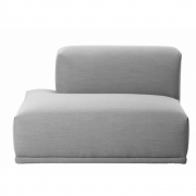 Muuto - Connect Sofa off. Endelement F (links) | Grau (Remix123)