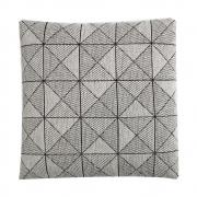 Muuto - Tile Kissen Schwarz/Weiß