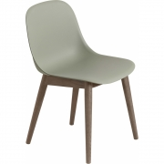Muuto - Fiber Side Chair mit Holzgestell