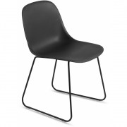 Muuto - Fiber Side Chair Kufenstuhl Schwarz