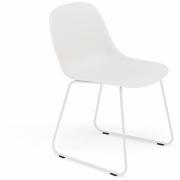 Muuto - Fiber Side Chair Kufenstuhl Weiß