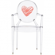 Kartell - Lou Lou Ghost Stuhl mit Muster