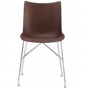 Kartell - P/Wood Chair Dark Ash / Chrome