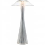 Kartell - Space Table Lamp Outdoor Chrome