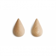 Normann Copenhagen - Dropit Hook (2 pcs. Set) Large | Nature