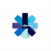 Normann Copenhagen - Watch Me Wall Clock Blue