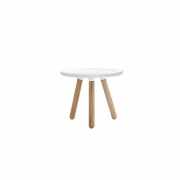 Normann Copenhagen - Tablo Coffee Table round small White - Natural