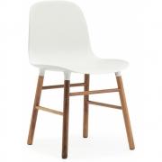 Normann Copenhagen - Form Stuhl Weiß | Walnuss