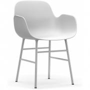 Normann Copenhagen - Form Armlehnenstuhl Weiß | Stahl