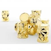 Opinion Ciatti - Tab.U Beistelltisch (Ø 31 x H 43 cm) | Gold