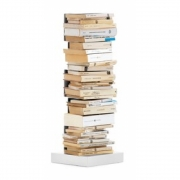 Opinion Ciatti - Ptolomeo Büchersäule freistehend 75 cm | Weiß