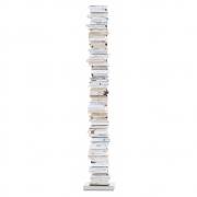 Opinion Ciatti - Ptolomeo Büchersäule freistehend 215 cm | Schwarz / Edelstahl