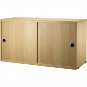 String - Shelf System Cabinet 30 cm | Oak
