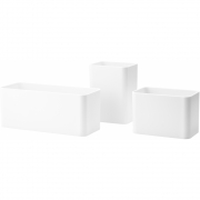 String - String+ Organizers (3-pack) White