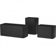 String - String+ Aufbewahrungsbehälter (3er Set) Schwarz