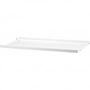 String - Regalboden Metall niedrige Kante für String® System 58 x 30 cm | Weiß