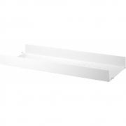 String - Regalboden Metall hohe Kante für String® System 78 x 30 cm | Weiß