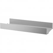 String - Regalboden Metall hohe Kante für String® System 58 x 20 cm | Grau
