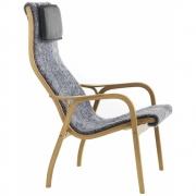 Swedese - Lamino Easy Chair Oak oiled | Sheepskin Grey (Graphite)