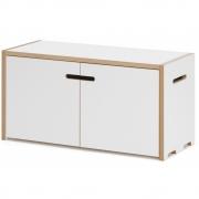 Tojo - Hochstapler Shelving System Basic Module with Doors | White