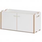 Tojo - Hochstapler Regal Anbaumodul mit Türen   Weiß