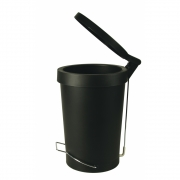 Authentics - Tip 30 Liter Treteimer Schwarz - Stahl
