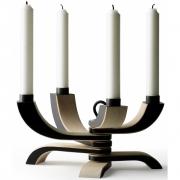 Design House Stockholm - Nordic Light Candleholder 4 arms Black
