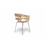 Design House Stockholm - Wick Chair Oak - Chrome