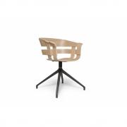 Design House Stockholm - Wick Chair Oak - Swivel Dark Grey