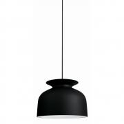Gubi - Ronde Pendant Lamp Ø 40 cm | Charcoal Black