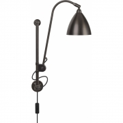 Gubi - Bestlite Wall Lamp BL5 All Black Brass
