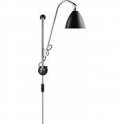 Gubi - Bestlite Wall Lamp BL5 Chrome - Black