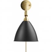 Gubi - Bestlite Wall Lamp BL7 Brass - Charcoal Black