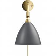 Gubi - Bestlite Wall Lamp BL7 Brass - Grey