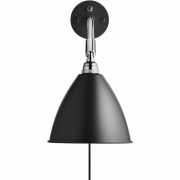 Gubi - Bestlite Wall Lamp BL7 Chrome - Black