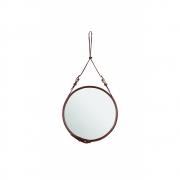 Gubi - Adnet miroir rond Ø 45 cm | Brun