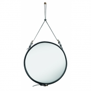 Gubi - Adnet Spiegel rund Ø 58 cm | Schwarz
