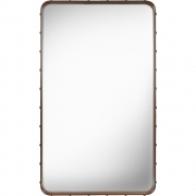 Gubi - Adnet Mirror Rectangular 115 x 70 cm | Tan