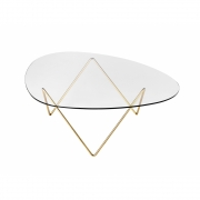 Gubi - Pedrera table basse Laiton