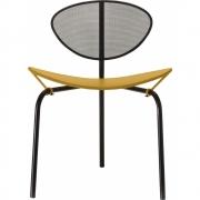 Gubi - Mategot Nagasaki Stuhl Schwarz-Gelb