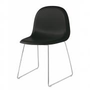 Gubi - Chair 1 Stuhl Schwarz | Verchromt