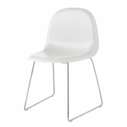 Gubi - Chair 1 Stuhl Weiß | Verchromt