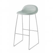 Gubi - 3D Barstool Sledge Base 75 cm Nightfall Blue | Chrome