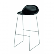 Gubi - 3D Barstool Sledge Base 75 cm Beech Black | Chrome