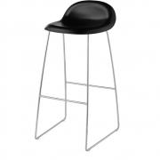Gubi - 3D Barstool Sledge Base 75 cm Midnight Black | Chrome