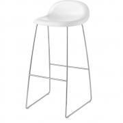Gubi - 3D Barstool Sledge Base 75 cm White Cloud | Chrome