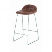 Gubi - 3D Barstool Sledge Base 75 cm Walnut | Chrome