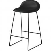 Gubi - 3D Barstool Sledge Base 65 cm Midnight Black | Black