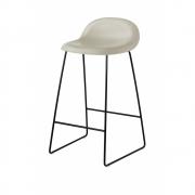 Gubi - 3D Barstool Sledge Base 65 cm Moon Grey | Black