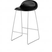 Gubi - 3D Barstool Sledge Base 65 cm Midnight Black | Chrome
